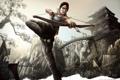Картинка девушка, здание, мост, Tomb Raider, лара