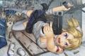 Картинка девушка, пистолет, оружие, выстрелы, рана, itou
