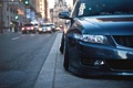 Картинка город, Honda, передок, accord, stance, Acura TSX