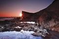 Картинка закат, England, Seaford, море
