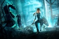 Картинка меч, щит, lara croft, tomb raider, подземелье