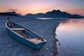 Картинка горы, озеро, берег, лодка, Германия, Michael Breitung, Бовария