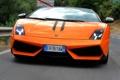 Картинка оранжевый, кабриолет, lamborghini, вид спереди, спайдер, gallardo lp570-4, spyder performante