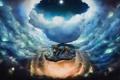 Картинка мультфильм, облака, пони, ночь, луна