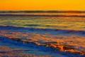 Картинка закат, прибой, краски, небо, море