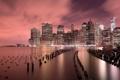 Картинка США, USA, Brooklyn Bridge Park, East River, Ист-Ривер, Нью-Йорк, дома