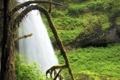 Картинка природа, дерево, водопад