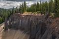 Картинка лес, природа, обрыв, скалы