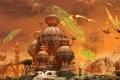 Картинка нападение, монах, храм, сражение