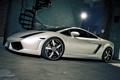Картинка белый, тюнинг, Lamborghini, суперкар, white, Gallardo, сбоку
