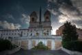 Картинка небо, облака, hdr, Рим, Италия, ступени, обелиск