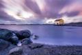 Картинка rock, sunset, night, cloud, lake