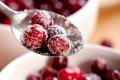 Картинка зима, ягоды, ложка, красные, сахар, клюква
