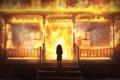 Картинка пожар, огонь, здание, девочка, The Secret World, game wallpapers