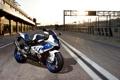 Картинка закат, гоночный трек, supersport, hp4, white, бмв, bmw