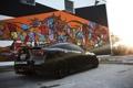 Картинка блики, черная, профиль, графити, Toyota, black, солнечно