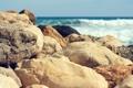 Картинка море, волны, природа, камни, разные