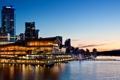 Картинка закат, Канада, здания, Ванкувер, сумерки, вечер, Canada