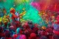 Картинка люди, краски, весна, Индия, фестиваль, holi festival