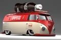 Картинка тюнинг, реклама, volkswagen, колеса, бутылка .