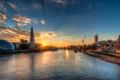 Картинка закат, англия, лондон, london, sunset, england, Thames River