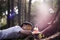 Картинка парень, настроение, торт, свечки