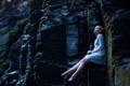 Картинка камни, девушка, Aleah Michele, ножки, платье
