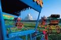 Картинка небо, индия, Taj Mahal, тадж-махал, Agra, India, рикша