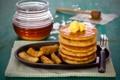 Картинка мёд, масло, яблоки, блины