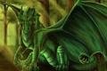 Картинка лес, монстр, росток, дракон, деревья, арт, goldenphoenix100