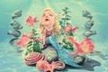 Картинка рыбки, русалка, sad mermaid, плачит