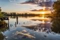 Картинка пейзаж, озеро, утро