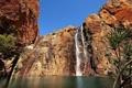 Картинка горы, озеро, скалы, водопад