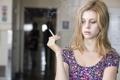 Картинка модель, актриса, сигарета, скриншот, сериал, Мотель Бейтсов, Nicola Peltz