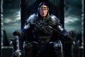 Картинка эльф, меч, воин, броня, стрелы, трон, кинжалы
