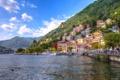 Картинка горы, город, озеро, фото, дома, Италия, Como Lombardy