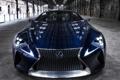 Картинка авто, Concept, фары, Lexus, Blue, передок, LF-LC