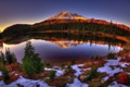 Картинка Lake, Reflection, Mount Rainier National Park, Washington State