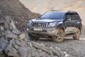 Картинка камни, чёрный, грязь, джип, внедорожник, Toyota, щебень