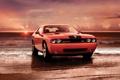 Картинка Challenger, Srt8, закат, автомобиль, Dodge