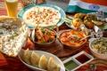 Картинка флаг, суп, рис, овощи, соус, блюда, ассорти