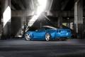 Картинка задняя часть, синий, Chevrolet, Corvette, Z06, шевроле, blue