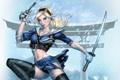 Картинка взгляд, девушка, оружие, арт, блондинка, Запрещенный прием, хвостики