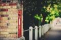 Картинка макро, деревья, город, улица, забор, боке
