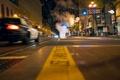 Картинка ночь, калифорния, California, San Francisco, usa, Market Street