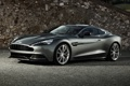 Картинка серый, фон, стена, Aston Martin, суперкар, передок, Астон Мартин