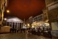 Картинка ночь, огни, улица, Рим, Италия, фонтан, обелиск