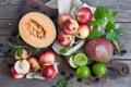 Картинка ягоды, черника, лайм, фрукты, цитрусы, дыня, fruits