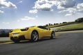 Картинка небо, облака, Авто, Желтый, Машина, Феррари, Ferrari