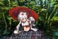Картинка взгляд, девушка, зонт, бамбук, хвост, ушки, touhou